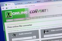 Ryazan, Russia - May 13, 2018: Online-convert website on the display of PC, url - Online-convert.com. Ryazan, Russia - May 13, 2018: Online-convert website on stock images