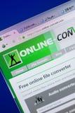 Ryazan, Russia - May 13, 2018: Online-convert website on the display of PC, url - Online-convert.com. Ryazan, Russia - May 13, 2018: Online-convert website on stock photo