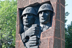 Ryazan, Russia. Monument to Soviet-Polish Brotherhood in arms in the square of General of the army V. F. Margelov. In 1943 in Ryazan was organized the first Stock Image