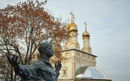 Ryazan, Russia - November 05, 2017: Monument to Sergei Yesenin o royalty free stock image