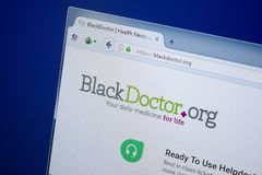 Ryazan, Russia - September 09, 2018: Homepage of Black Doctor website on the display of PC, url - BlackDoctor.org.  stock images