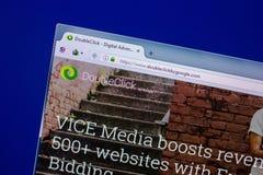 Ryazan, Russland - 16. April 2018 - homepage des Doppelklicks durch Google-Anzeigenservice am PC, URL - doubleckickbygoogle com Stockfotos