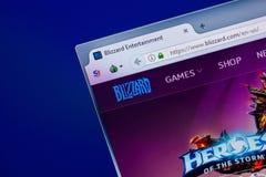 Ryazan, Russland - 16. April 2018 - homepage von Blizzardwebsite auf der Anzeige von PC, URL - Blizzard com Stockbild