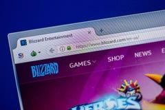 Ryazan, Russland - 5. Juni 2018: Homepage von Blizzardwebsite auf der Anzeige von PC, URL - Blizzard com Stockfoto