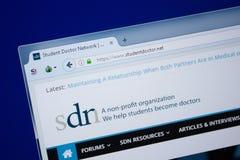 Ryazan, Russland - 9. September 2018: Homepage von Studenten-Doctor-Website auf der Anzeige von PC, URL - StudentDoctor netz Stockfoto