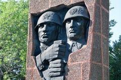 Ryazan Ryssland MonumentSovjet-polermedel brödraskap i armar i fyrkanten av generalen av armén V f Margelov Fotografering för Bildbyråer