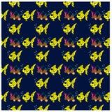ryba deseniują bezszwowego Zdjęcie Royalty Free
