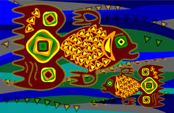 ryba etniczny styl Obraz Royalty Free