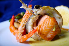 Ryba i garnele zdjęcie royalty free