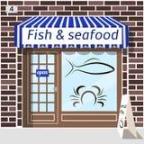 Ryba i owoce morza sklep Zdjęcie Royalty Free
