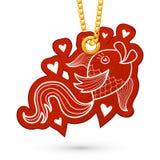 Ryba i serca Zdjęcia Royalty Free