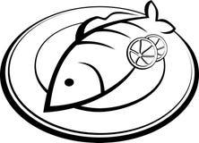 Ryba na talerzu Obrazy Stock