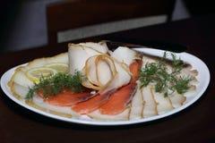 Ryba na talerzu fotografia royalty free