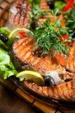 ryba piec na grillu Obrazy Stock