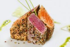 ryba piec na grillu zdjęcia stock