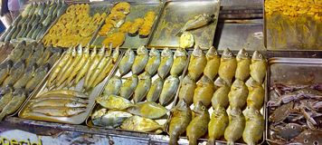 Ryba przygotowywająca dla sprzedaży zdjęcie royalty free