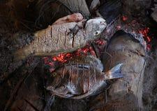 ryba smażąca Zdjęcia Royalty Free