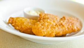 Ryba smażąca w talerzu. Obraz Royalty Free