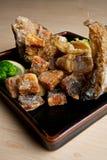 ryba smażący japończyk Zdjęcie Royalty Free