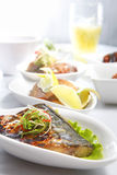 ryba smażący posiłek Obraz Stock