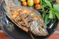 ryba smażący talerz Zdjęcia Royalty Free