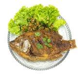 ryba smażący ziele Fotografia Stock