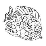 Ryba w kolorystyki stronie dla childrean i dorosłych w ornamentacyjnym grą Fotografia Stock