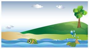 Ryba w rzece Zdjęcie Stock