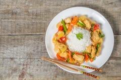 Ryba w słodkiego i podśmietania kumberlandzie Naczynie Chińska krajowa kuchnia najlepszy widok Przestrzeń Fotografia Royalty Free