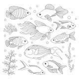 Ryba w stylu doodle Zdjęcie Stock