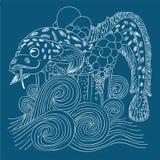 Ryba w szkle piwo Obrazy Stock