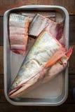 Ryba w tacy Fotografia Royalty Free