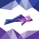 Ryba w trójboka stylu Wieloboka abstrakt ilustracji