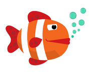 Ryba z bąblami Ryba na białym tle duża ryba również zwrócić corel ilustracji wektora Tropikalna ryba, denna ryba Dennego koloru p Zdjęcia Royalty Free