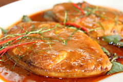 Ryba z curry'ego kumberlandem Zdjęcie Stock