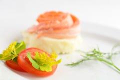 Ryba z grulą na białym tle zdjęcie royalty free