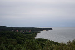 Rybachy village at the Curonian Spit. View of Rybachy village at the Curonian Spit, Russia royalty free stock photos