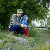 rybacy dwa Obrazy Royalty Free