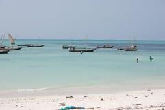 rybacy jest łódź Zdjęcia Royalty Free
