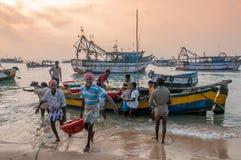 Rybacy od Pamban zdjęcia royalty free