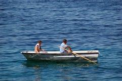 rybacy łodzi Obraz Royalty Free