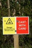 rybacy podpisują ostrzeżenie Fotografia Royalty Free