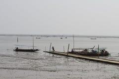 Rybacy przy Don Hoi zwiania Samut Songkhram prowincją zdjęcia royalty free