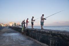 Rybacy przy Hawańskim Obraz Stock
