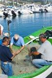 Rybacy przy pracą Zdjęcia Royalty Free
