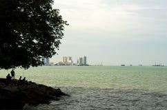 Rybacy przy wybrzeżem Zdjęcia Royalty Free