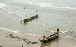 Rybacy w Ghana obrazy royalty free