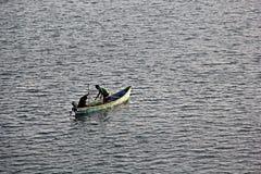 Rybacy w Mondovi rzece Fotografia Royalty Free
