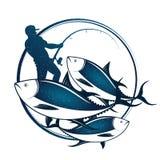 Rybaków chwyty tuńczyk Zdjęcia Stock
