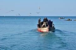 Rybaków iść łowić Fotografia Royalty Free